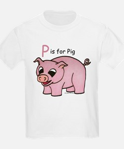 P is for Pig T-Shirt