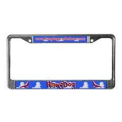 Hangdog<br>License Plate Frame