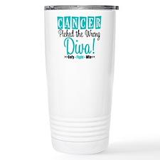 OvarianCancerPickedWrongDiva Travel Mug