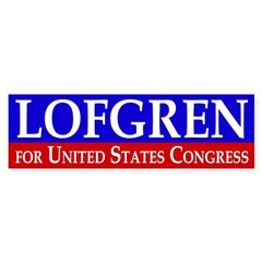 Lofgren for Congress Bumper Bumper Sticker