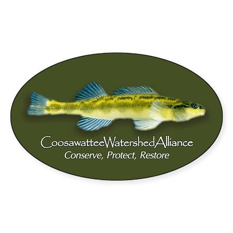 Coosawattee Watershed Allianc Oval Sticker