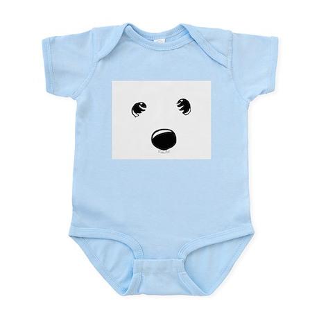 Westie Face Infant Bodysuit