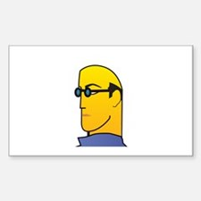 Cool Guy Rectangle Sticker 10 pk)