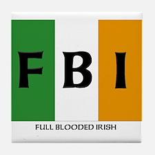 FBI Flag Tile Coaster