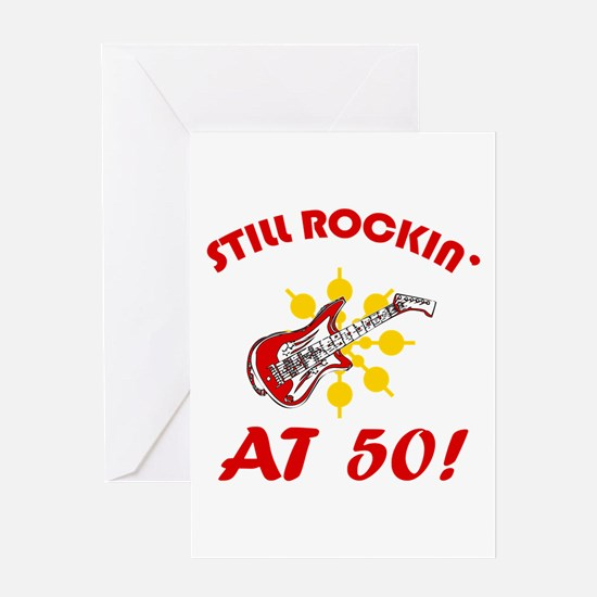 Rockin' 50th Birthday Greeting Card
