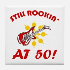 Rockin' 50th Birthday Tile Coaster