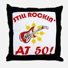 Rockin' 50th Birthday Throw Pillow