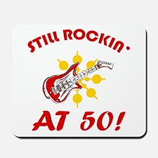 Rockin' 50th Birthday Mousepad