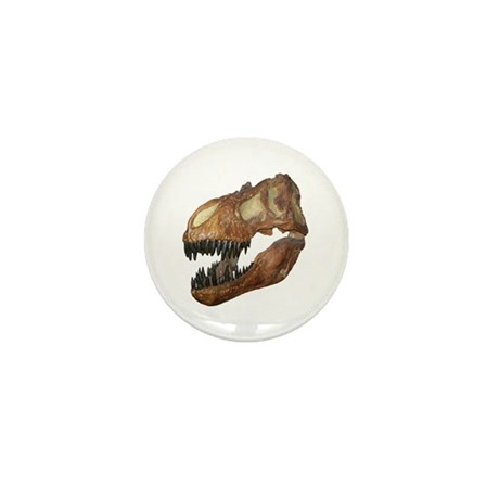 T-rex Skull Mini Button (10 pack)