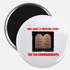 "CHRISTIANS NEED A STAMP TOO 2.25"" Magnet (10"