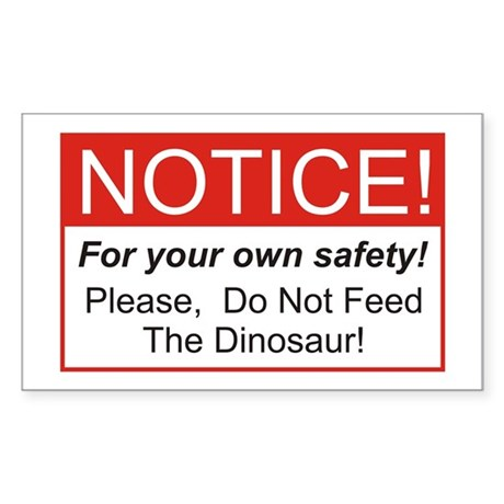Notice / Dinosaur Rectangle Sticker