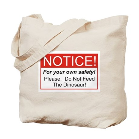 Notice / Dinosaur Tote Bag