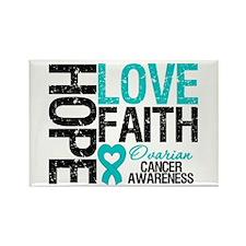Ovarian Cancer Hope Rectangle Magnet