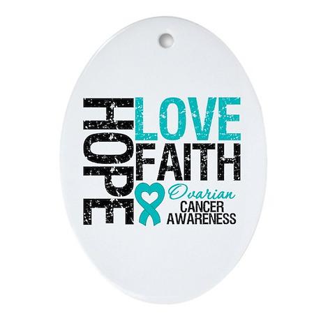 Ovarian Cancer Hope Oval Ornament
