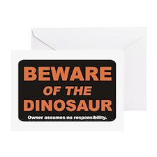 Beware / Dinosaur Greeting Card