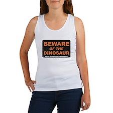 Beware / Dinosaur Women's Tank Top
