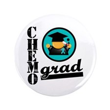 "Ovarian Cancer Chemo Grad 3.5"" Button"