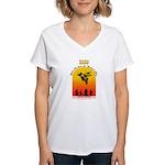 Swine Flu Women's V-Neck T-Shirt