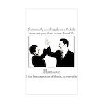 Human Flu Rectangle Sticker 50 pk)