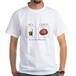 Swine Flu Know The Difference White T-Shirt