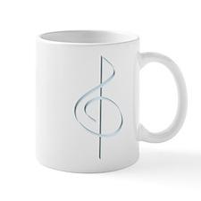 Lt. Blue Brushstroke Treble Mug