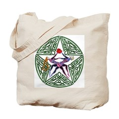 Lover's Pentagram Tote Bag