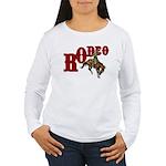 Vintage Rodeo Bronc Rider Women's Long Sleeve T-Sh