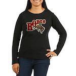 Vintage Rodeo Bronc Rider Women's Long Sleeve Dark