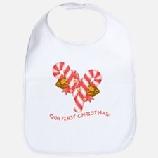 TWINS or Multiples Our First Christmas Bib