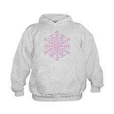 Big Pink Snowflake Hoodie