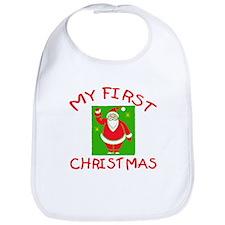 My First Christmas with Santa Bib