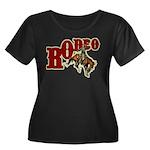 Vintage Rodeo Bronc Rider Women's Plus Size Scoop