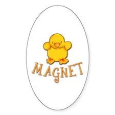 Chick Magnet Oval Decal