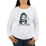 I'm With Stupid (JC Edition) Women's Long Sleeve T