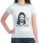I'm With Stupid (JC Edition) Jr. Ringer T-Shirt