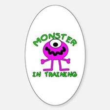 Monster in Training Oval Decal