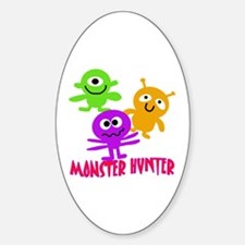Monster Hunter with MONSTERS Sticker (Oval)