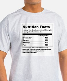 Recreation Therapy Nutrition  Ash Grey T-Shirt