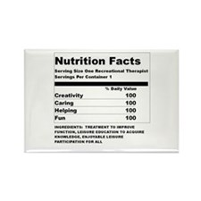 Recreation Therapy Nutrition Rectangle Magnet
