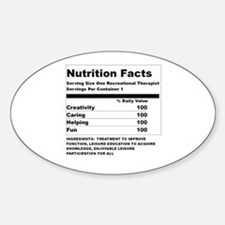 Recreation Therapy Nutrition Oval Decal