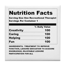 Recreation Therapy Nutrition  Tile Coaster