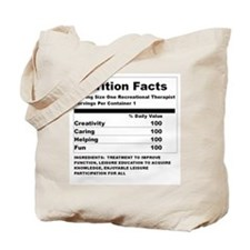 Recreation Therapy Nutrition  Tote Bag