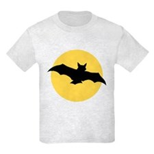 Yellow Moon and Bat Halloween T-Shirt