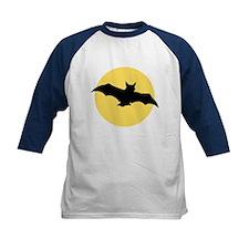 Yellow Moon and Bat Halloween Tee