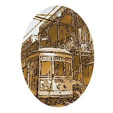 Desire Streetcar Oval Ornament