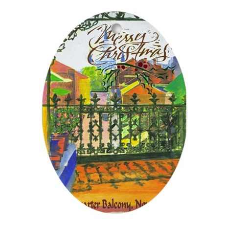 Christmas Cathedral Oval Ornament