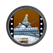 Eiffel Tower Negative Wall Clock