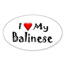 Balinese Oval Decal