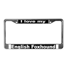 """""""English Foxhound"""" License Plate Frame"""