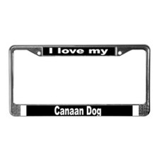 """""""Canaan Dog"""" License Plate Frame"""